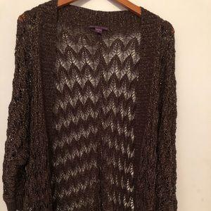 Beverly Drive Crochet cardigan short sleeves 3x